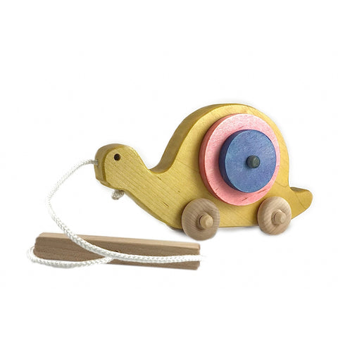 Multi-colored Snail Pull Toy