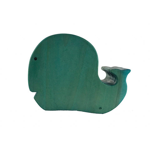 Blue Wooden Piggy Bank Whale Toy