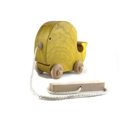 Yellow Whale Pull Toy