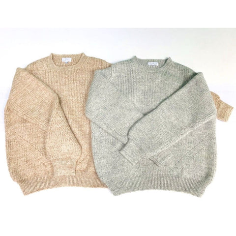 Alpaca and Wool Jumper, Marl Colours - BuyMeOnce Direct - BuyMeOnce UK