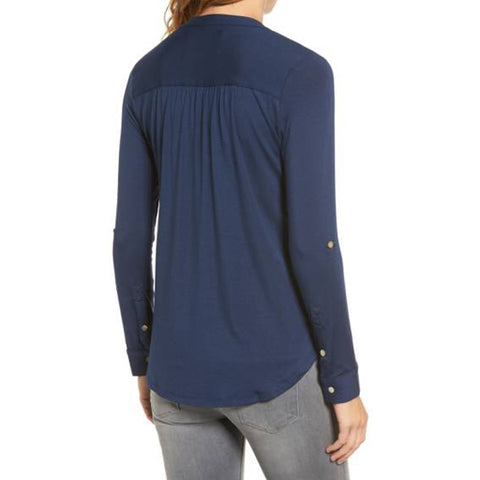 Elena Roll Tab Sleeve Top