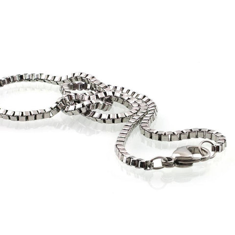 Jet Stainless Steel Necklace