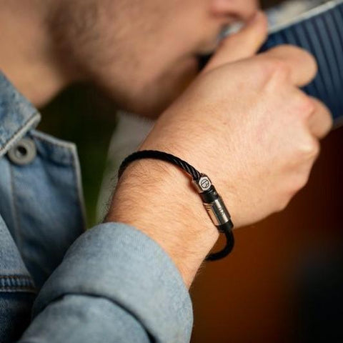 Cable Midnight Stainless Steel Bracelet -  - BuyMeOnce UK