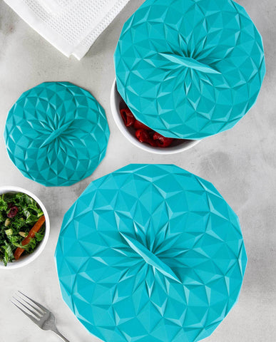 Round Silicone Storage Lids, 3-Piece Set