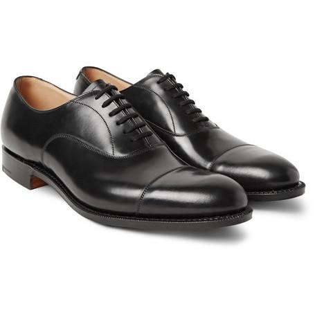 Men's Classic Black Leather Lace Up Formal Shoes