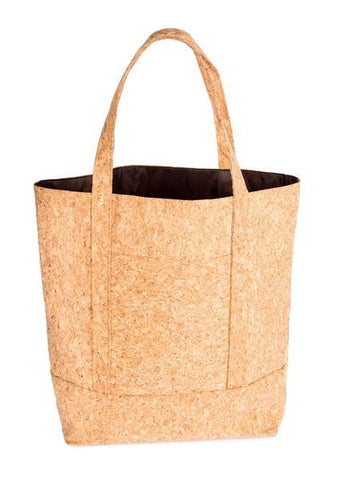 Cork Tote Bag with Bamboo Logo