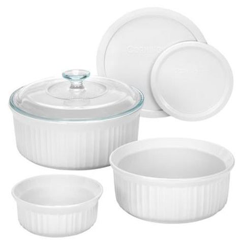 French White Bakeware Set, 6 Piece