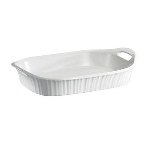 French White Oblong Casserole, 3 Quart