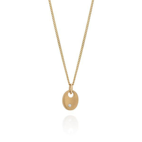 Diamond Tiny Pebble Gold Necklace