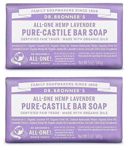 Organic All-One Lavender Soap Bar (Pack of 2)