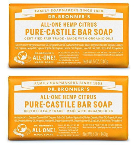 Organic All-One Citrus Soap Bar (Pack of 2)