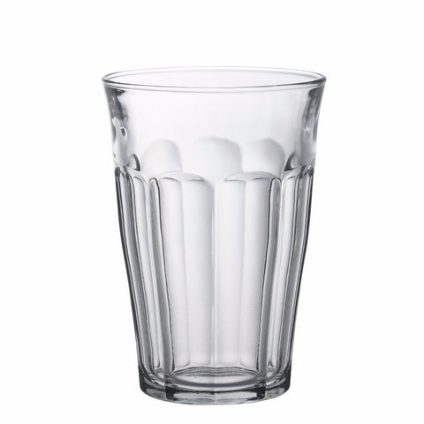 Picardie Clear Glass Tumbler, 12 oz, Pack of 6