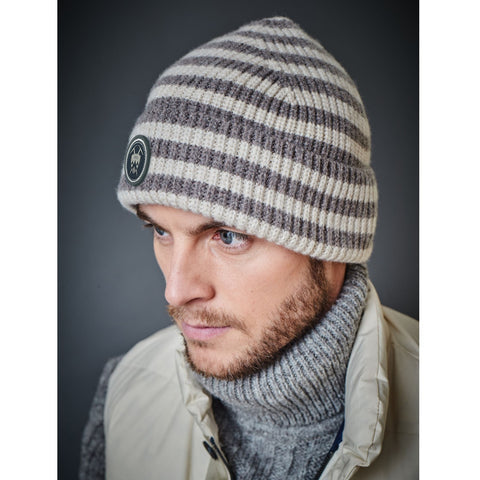 Lambswool Striped Beanie