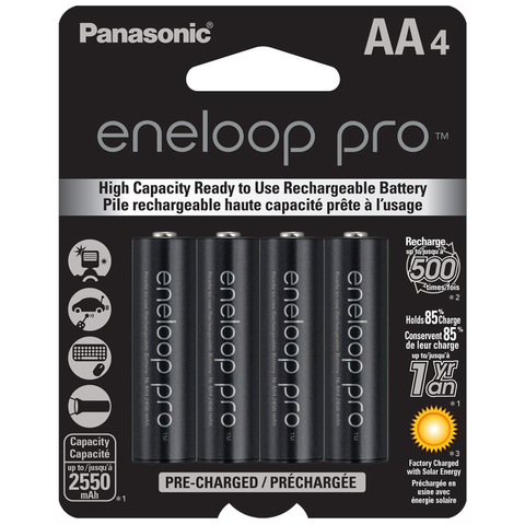 Pro AA Rechargeable Batteries, Pack of 4