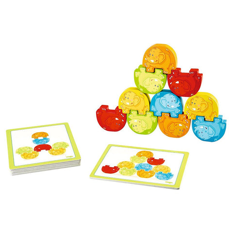 Wigglefants Wooden Stacking Game