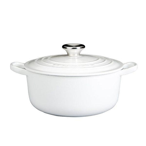 White Cast Iron Pot