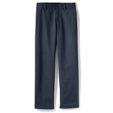 Boys' Stain Resist Plain Front Chinos