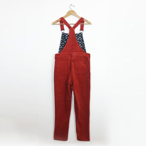 Orange Corduroy Dungarees