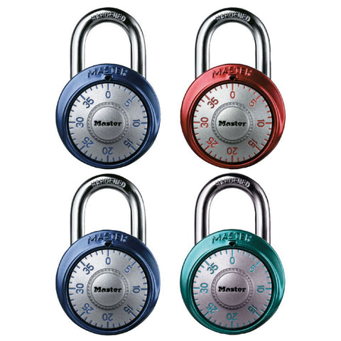 Combination Lock with Silver Dial