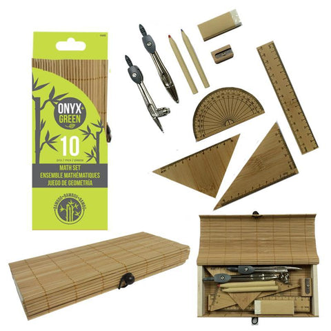 Bamboo 10-Piece Math Set