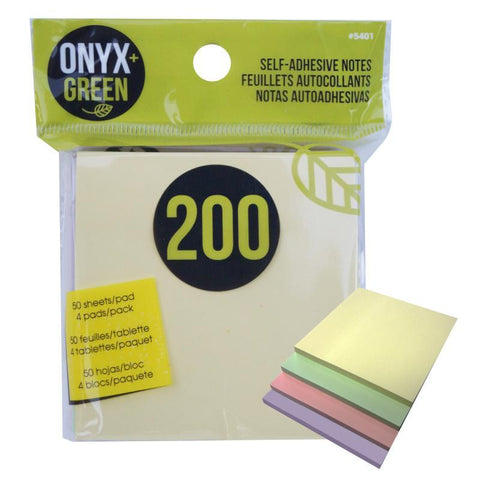 Self-Adhesive Notes, Pack of 200