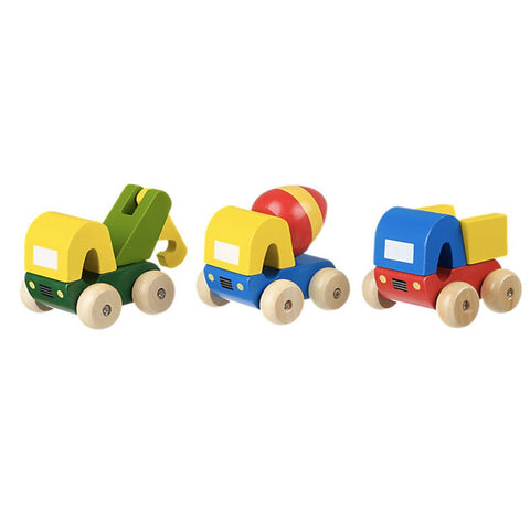 Set of 3 Wooden Trucks