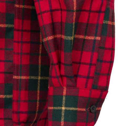 Classic Lodge Shirt in Red Tartan