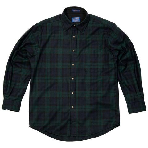 Classic Lodge Shirt in Black Watch Tartan