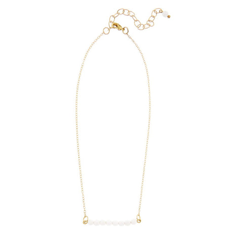 Beads Bar Pendant in White