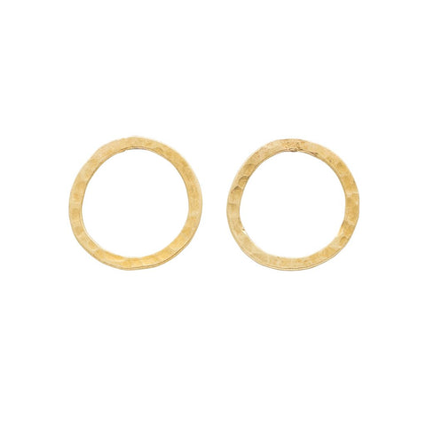 Simple Circle Earrings in Brass
