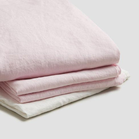 Basic Bed Linen Bundle, Blush Pink