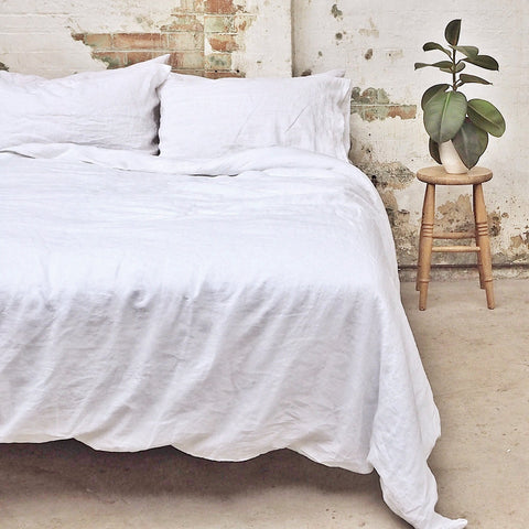 Linen Duvet Cover, White