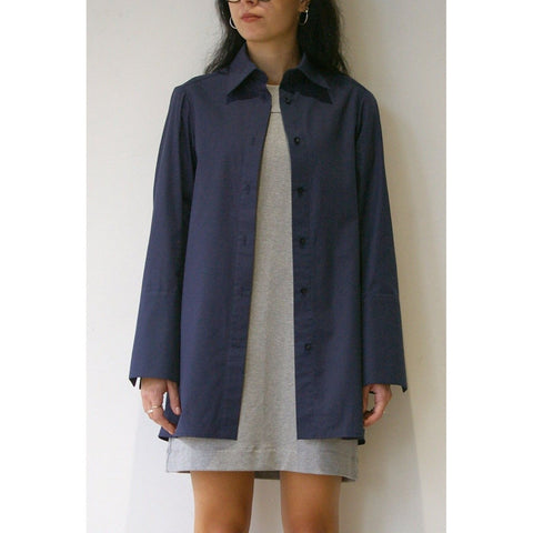 Rozenbroek Shirt Dress, Navy - BuyMeOnce UK