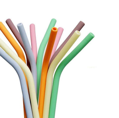 Reusable Silicone Straws, 6-Pack