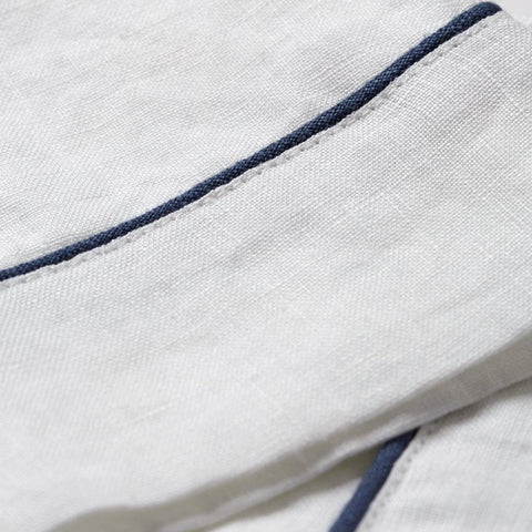 Linen Pajama Set, White