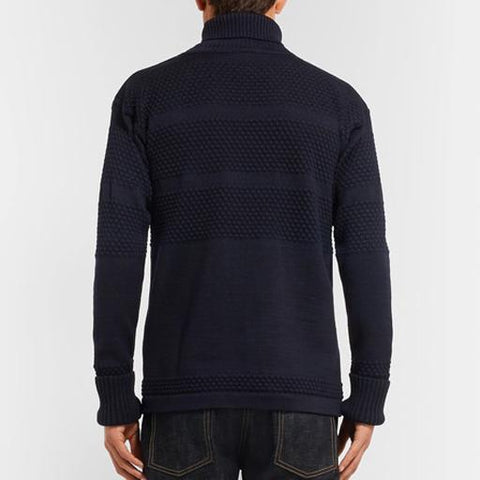 Fisherman Virgin Wool Roll Neck Sweater