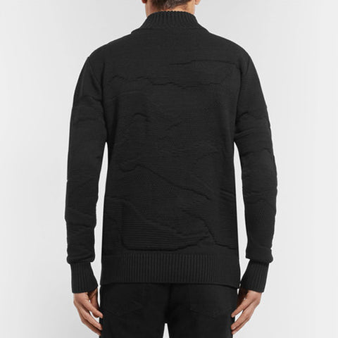 Polygon Textured-Knit Sweater