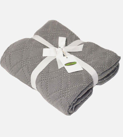 Bamboo Knit Throw, Graphite