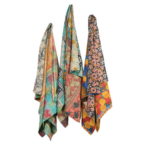 One-of-a-Kind Kantha Throws