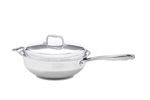Stainless Steel Lidded Wok