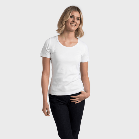 White T-Shirt Co Women‰۪s Relaxed Short Sleeve Scoop Neck T-shirt | BuyMeOnce.com