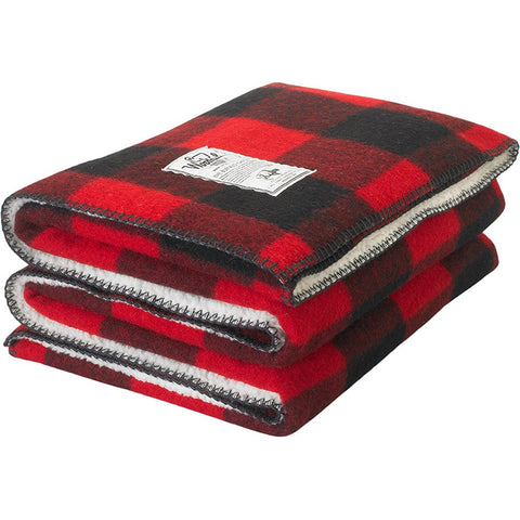 Sherpa Rough Rider Buffalo Check Wool Blanket
