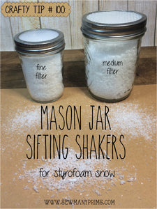 Sifting Shakers for Styrofoam Snow