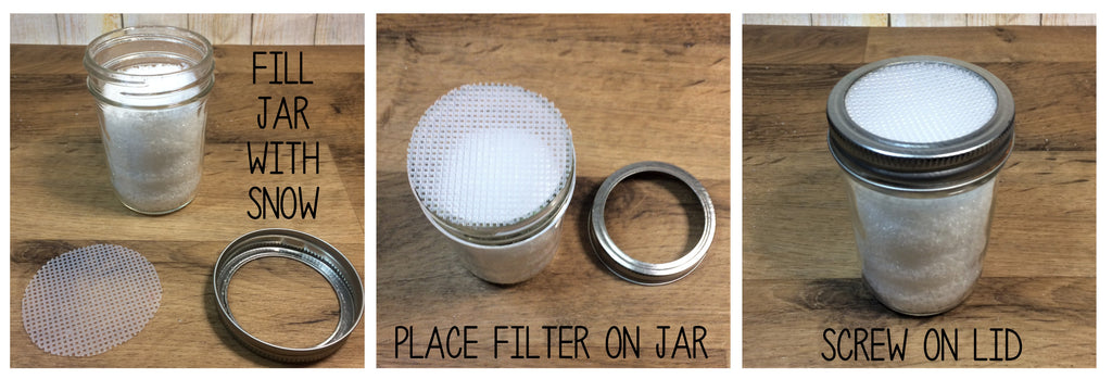 Mason Jar Plastic Canvas Filter