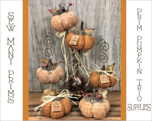 Prim Pumpkin Trio Pattern