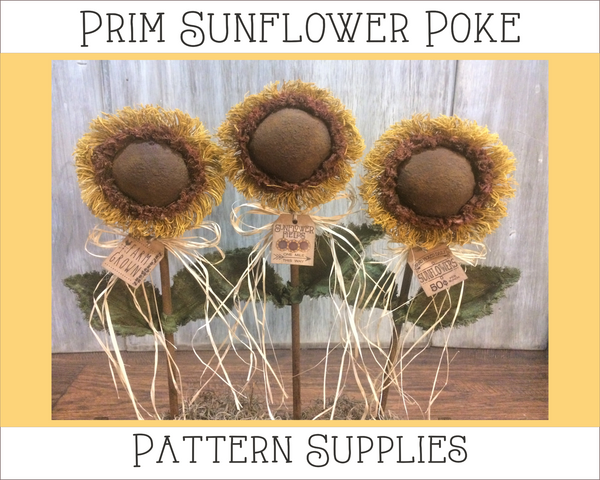 Prim Sunflower Poke Supplies