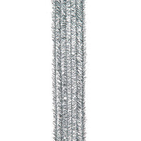 Tinsel Stems, silver, 9mm - 15/pk - Sew Many Prims