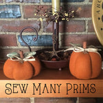 Set of 2 Wool Felt Pumpkins - Sew Many Prims