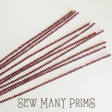 Tinsel Stems, red, 3mm - 10/pk - Sew Many Prims