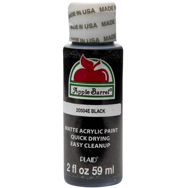 Apple Barrel Acrylic Paint - Black, 2 oz.